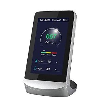 ZKTeco Moniteur de qualité de l'air numérique Home Monitoring PM2.5 Instruments de détection de gaz formaldéhyde Détecteur de TVOC moniteurs analyseur