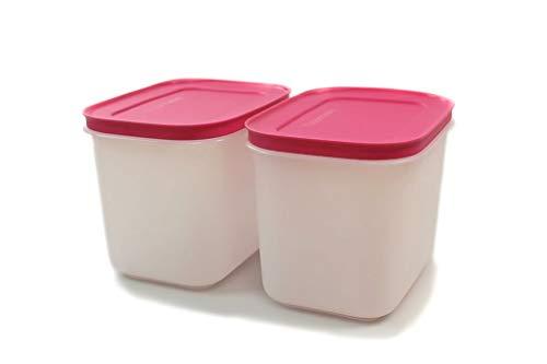 Tupperware Contenitore per congelatore, 1,1 l, colore: rosa/bianco, G35 (2) cristallo di ghiaccio ghiaccio 38369