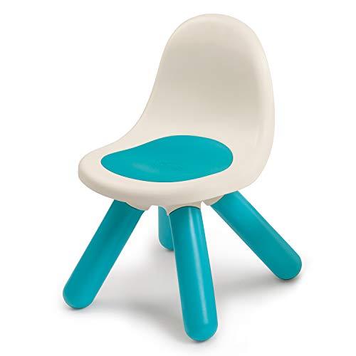 Smoby - Kid Stuhl Blau – Design Kinderstuhl für Kinder ab 18 Monaten, für Innen und Außen, Kunststoff, ideal für Garten, Terrasse, Kinderzimmer