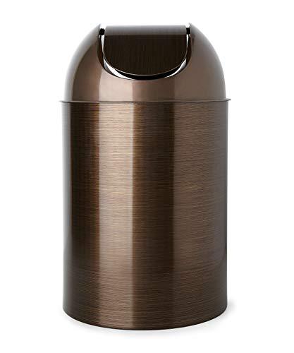 Umbra Mezzo 2.5-gallon swing-top basurero, Bronce, Menos de 7.5 L, 1