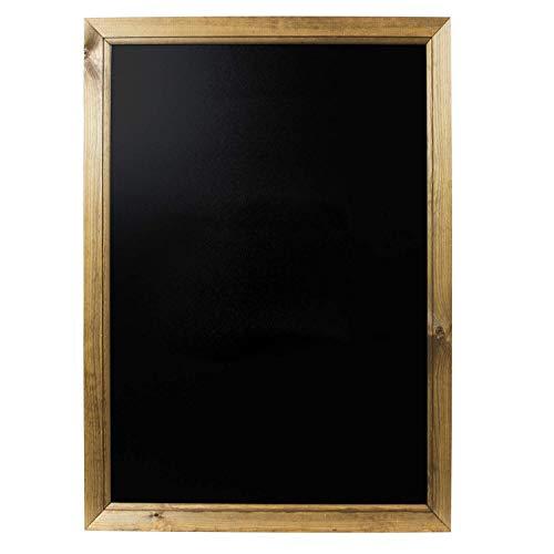 Chalkboards UKLavagna con Cornice in Rovere Scuro, Legno, Nero, Legno, Nero, A1 (87 x 62.5 x 1.5cm)