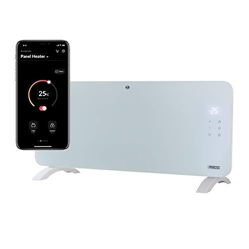 Princess Termoconvettore Vetro Smart 342001 - Controllo con App - 2000 W Bianco