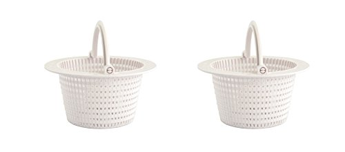 FibroPool Replacement Swimming Pool Skimmer Basket with Handle (2 Pack)