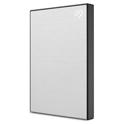 Seagate Backup Plus Slim 2TB External Hard Drive Portable HDD  Silver USB 3.0 for PC Laptop and Mac, 1 year Mylio Create, 2 Months Adobe CC Photography (STHN2000401)