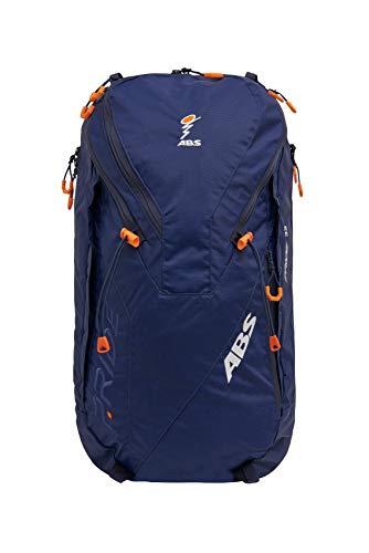 ABS Unisex– Erwachsene Lawinenrucksack Zip-On 32, Packsack für P.Ride Original und Vario Base Unit, Fach für Sicherheitsausrüstung, 32L Volumen, Ski-und Snowboardhalterung, Helmnetz, Deep Blue