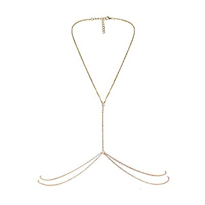 Material:Alloy. One Size Fit Most. Fashion design, If you wear this body chain with Bikini,you will look more charming and attractive A stylish popular and beautiful bikini necklace. Unique and fashionable, provide you the most charming look Package ...