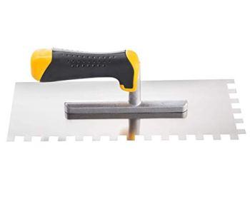 Truelle de carrelage carrée 8 mm en acier inoxydable - 28 x 12 cm