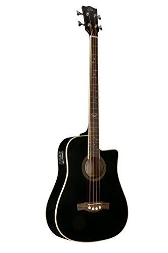 EKO Guitars 06217040 - Basso acustico-elettrico serie NXT, Nero