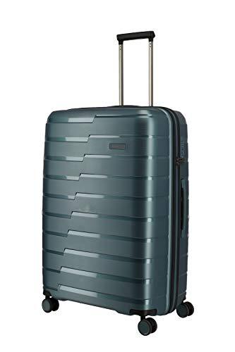 travelite 4-Rad Koffer L mit TSA Schloss, Gepäck Serie AIR BASE: Funktionaler Hartschalen Trolley im coolen Look, 075349-25, 77 cm, 105 Liter,eisblau
