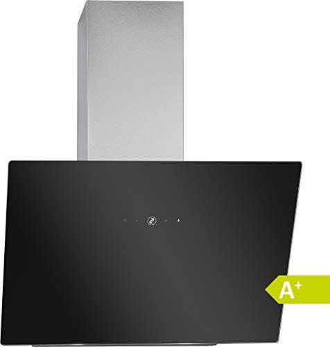 Bomann DU 7604 G - Cappa aspirante verticale senza cappuccio, larghezza 60 cm, controllo touch, 9 livelli di potenza, illuminazione a LED, colore: Nero/Argento