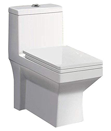 Belmonte Ceramic One Piece Western Commode/Toilet/Water Closet/EWC Ripone S Trap - White