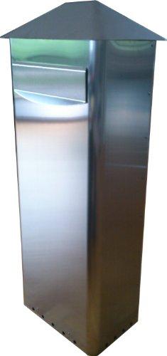 Großraumbriefkasten GIGA Edelstahl-V2A Entnahme von hinten