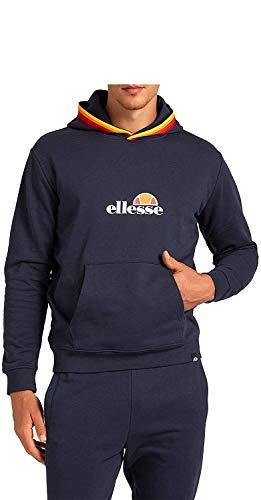Ellesse Felpa Cappuccio Uomo Rainbow Tape EHM204W20 (Black, L)