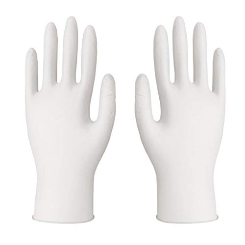 100 Pcs Latex Nitrile Disposable Gloves Blue Medical Gloves Latex Free Powder-free Nitrile Exam Gloves Heavy Duty, Small, Medium, Large (M)