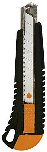 Fiskars Cuttermesser mit Metallführung, 18 mm, Orange/Schwarz, 1003749