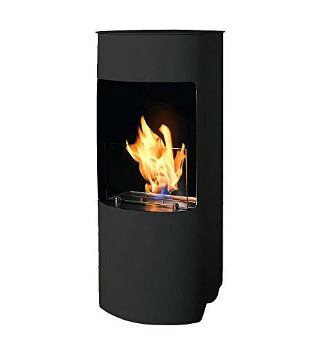 Tecno Air System Cortina Indoor Freestanding Fireplace Bio-Ethanol Black – Fireplace (450 mm, 450 mm, 950 mm, 23 kg)