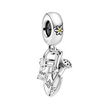 Pandora 925 pendentif en argent sterling bricolage arrosoir truelle pendre charme charme fit bracelet perles accessoires bijoux pour femmes