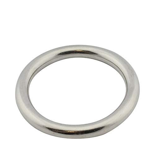 D2D | VPE: 2 Stück - Edelstahl Ringe - Größe 3 x 30 mm - M8229 A4 V4A - geschweißt und poliert - Ösen O-Ringe