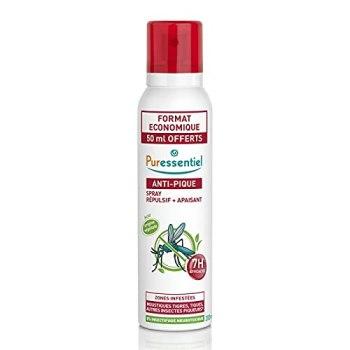 Puressentiel - Anti Pique - Spray Répulsif et Apaisant - Zone infestées tempérées et tropicales - Actif 100% d'origine naturel - 200 ml