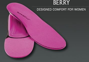 SUPER feet [ TRIM FIT BERRY サイズC (23.5~25.0)] スーパーフィート インソール トリムフィット ベリー