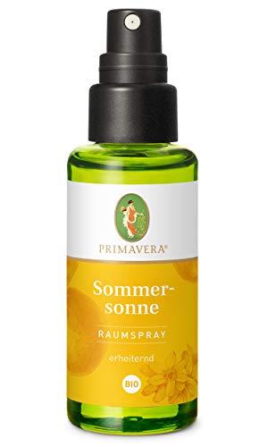 PRIMAVERA Raumspray Sommersonne bio 50 ml - Grüne Mandarine, Neroli und Orange - Aromadiffuser, Aromatherapie - erheiternd - vegan