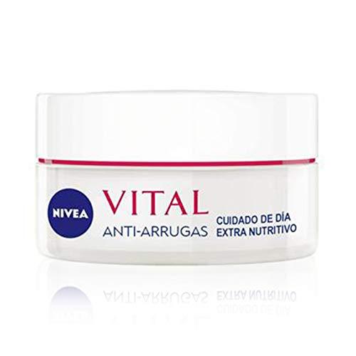 NIVEA VITAL Calcio Cuidado de Día Extra Nutritivo, 1 x 50 ml, crema antiedad de cuidado facial, crema antiarrugas para dar vitalidad y luminosidad a la piel madura