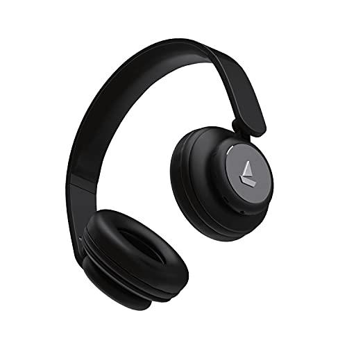 boAt Rockerz 450 Wireless Bluetooth On Ear Headphones with Mic (Luscious Black)
