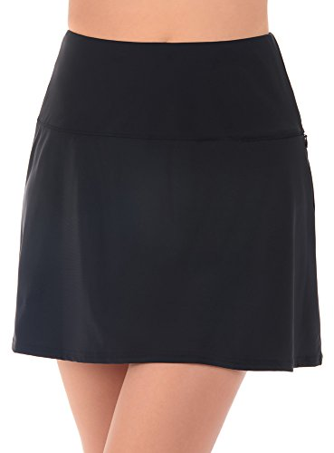 315wl3ZfovL Look 10 lbs. lighter in 10 seconds&reg with Miraclesuit. Our exclusive Miratex&reg fabric slims and slenderizes without panels or linings for total full body shaping & control. 69% Nylon, 31% Lycra Spandex Figure flattering skirted swim bottom minimizes waist, hips, and thighs, making you look thinner all over. Ideal for most body types. Top sold separately. Stash essentials in the hidden zippered pocket for total convenience. Cut makes legs look longer and leaner.