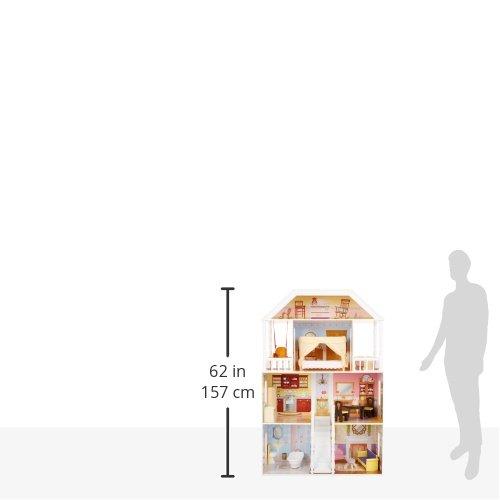Image 11 - Kidkraft - 65023 - Maison de Poupées en Bois Savannah Incluant Accessoires et Mobilier, 4 Étages de Jeu pour Poupées 30 cm