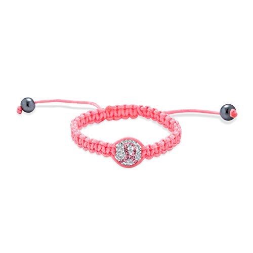 Bling Jewelry Pink Lazo Sobreviviente del Cáncer Pave Crist