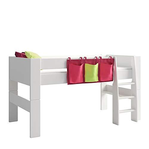 Steens For Kids Utensilo,Taschenset für Kinderbett, Hochbett, 93 x 38 x 1 cm (B/H/T), Baumwolle, Lila