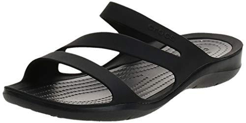 Crocs Swiftwater Sandal Women, Chanclas para Mujer, Negro (Black/Black), 37/38 EU
