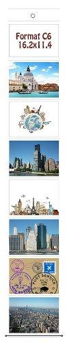 Trendfinding Foto Bilder Karten Halter Fototasche Fotowand Fotohalter Kartenhalter (1 x 8 Fotos Querformat C6 11,4x16,2)