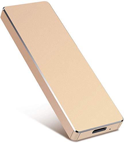 Hard disk esterno portatile da 1 TB/2 TB per PC portatili e Mac Oro 2 TB