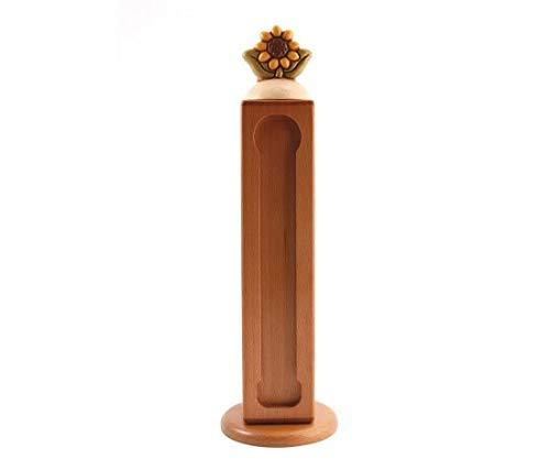 THUN  - Porta Capsule per Nespresso  con Girasole - Linea Country - Legno - h 35 cm