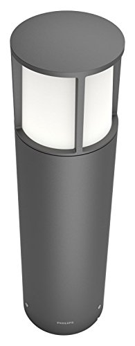 Philips Lighting myGarden LED Sockelleuchte Stock, Metall, 6 W, Grau