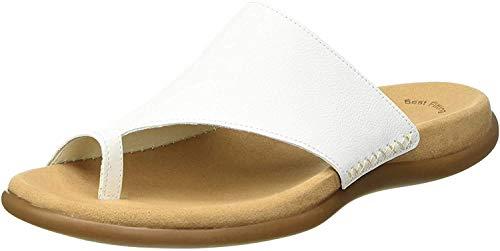 Gabor Shoes Damen Gabor Jollys-03.700 Pantoletten, Weiß (Blanc Leather), 39 EU