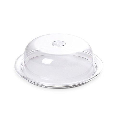 Omada Design Globo Kuchenform, frische Glocke und 25 cm Tablett aus unzerbrechlichem Kunststoff, hergestellt in Italien, spülmaschinenfest