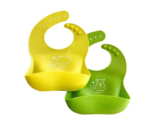 A Baby Cherry Bib 21st Century Waterproof Silicone Bib for feeding infants and toddlers (6M to 5 Yr)...