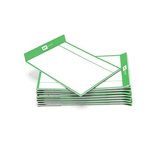 PATboard Lavagne di Scrum e Lavagne di Kanban TASKcards - Magnetico - Set di 16 Carte Verdi