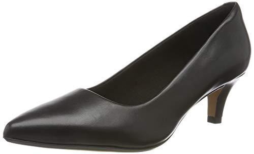 Clarks Linvale Jerica, Zapatos de Tacón Mujer, Negro (Black Leather), 39 EU