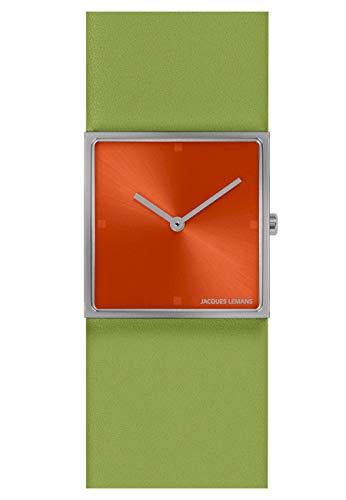 Jacques Lemans Damen-Uhren Analog Quarz One Size Grün/Orange 32016506