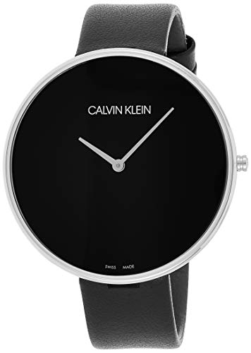 Calvin Klein Damen Analog Quarz Uhr mit Leder Armband K8Y231C1