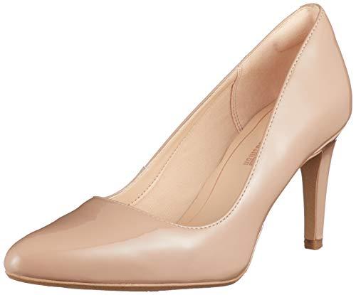 Clarks Laina RAE, Zapatos de Tacón para Mujer, Beige (Nude Patent -), 36 EU