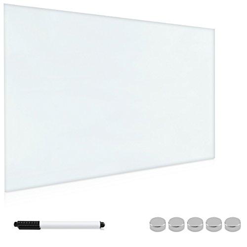 Navaris Lavagna magnetica in vetro 90x60 cm - Bacheca White Board scrivibile Lavagnetta per calamite...