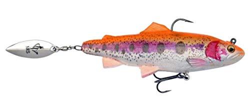 Savage Gear - 4D Trout Spin Shad, pesce di gomma con spinner, per pesca a spinning di luccio, lucioperca e pesce persico. Esche in gomma, esche per lucci, Golden Albino, 11cm / 40g / moderat sinkend