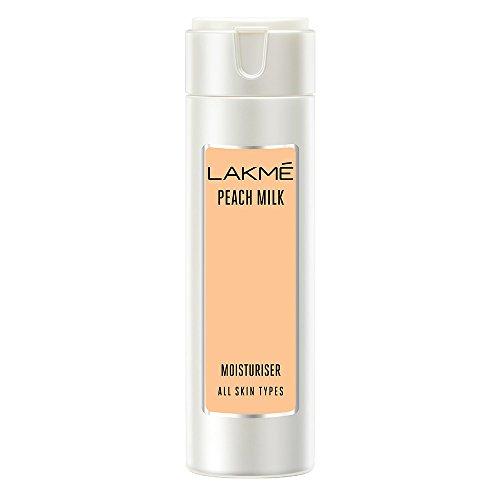 Lakme Peach Milk Moisturizer Body Lotion, Lightweight, Non-Sticky, Locks Moisture For 12 Hours, 120 ml