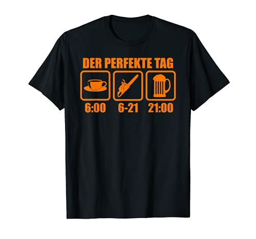 Herren Holzfäller Forstwirt TShirt Lustiges Geschenk Holz Forst T-Shirt