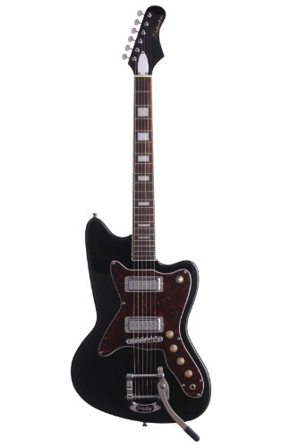 Silvertone Classic 1478 BK Electric Guitar, Gloss black