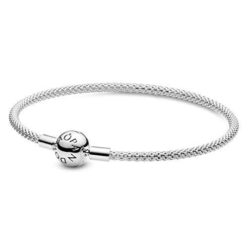 Pandora armband van meshketting   Dikte van 3 mm   Kogelvormige clipsluiting